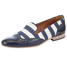 Buy Somerset by Alice Temperley Priston Canvas Mix Nautical Loafer, Blue / White Online at johnlewis.com