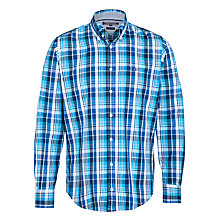 Buy Tommy Hilfiger Elmy Check Long Sleeve Shirt, Malibu Blue Online at johnlewis.com