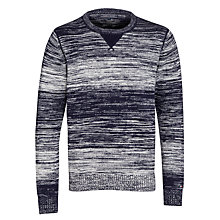 Buy Tommy Hilfiger Maddock Crew Neck Cotton Jumper, Evening Blue Online at johnlewis.com
