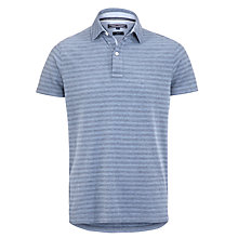 Buy Tommy Hilfiger Lexie Stripe Short Sleeve Polo Shirt, Insignia Blue Online at johnlewis.com