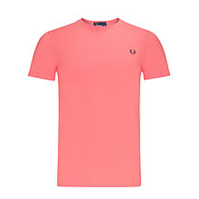 Buy Fred Perry Crew Neck Plain T-Shirt, Red Online at johnlewis.com