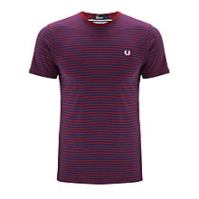Buy Fred Perry Sharp Stripe Cotton T-Shirt Online at johnlewis.com