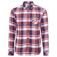 Buy Hilfiger Denim Swain Check Long Sleeve Shirt, Tango Red Online at johnlewis.com