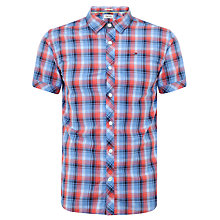 Buy Tommy Hilfiger Strato Check Short Sleeve Shirt, Regatta Online at johnlewis.com