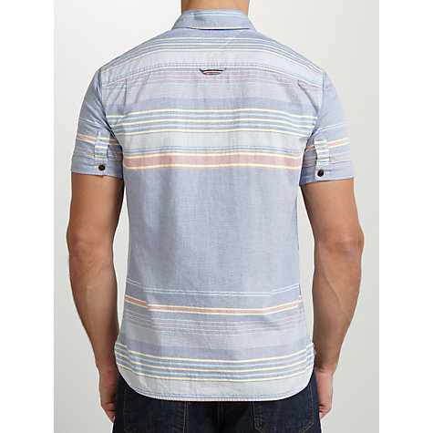 Buy Hilfiger Denim Spike Short Sleeve Shirt, Monaco Blue/Multi Online at johnlewis.com
