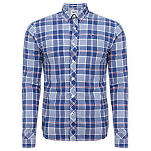 Buy Hilfiger Denim Sobert Check Long Sleeve Shirt, Monaco Blue Online at johnlewis.com