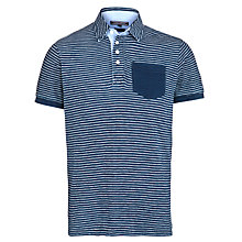 Buy Tommy Hilfiger Roderick Stripe Short Sleeve Polo Shirt, Indigo Online at johnlewis.com