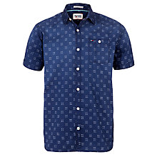 Buy Hilfiger Denim Shane Print Short Sleeve Shirt, Monaco Blue Online at johnlewis.com