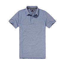 Buy Tommy Hilfiger Lake Print Polo Short Sleeve Shirt, Crown Blue Online at johnlewis.com