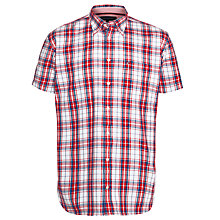 Buy Tommy Hilfiger Linen Check Short Sleeve Shirt Online at johnlewis.com