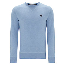 Buy Fred Perry Classic Crew Neck Sweatshirt, Summer Blue Marl Online at johnlewis.com