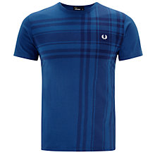 Buy Fred Perry Bold Tartan Print T-Shirt, Navy Online at johnlewis.com