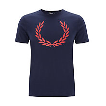 Buy Fred Perry Laurel Wreath Print T-Shirt, Navy Online at johnlewis.com