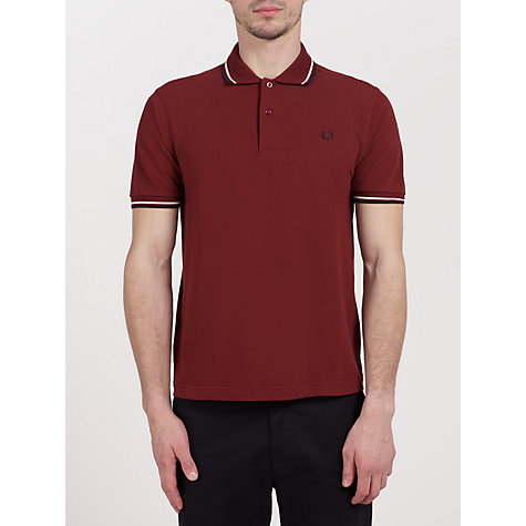 Buy Fred Perry Slim Fit Twin Tipped Polo Shirt Online at johnlewis.com