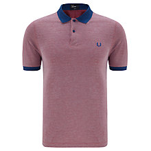 Buy Fred Perry Tonic Polo Top, Royal Red Online at johnlewis.com