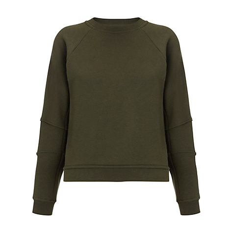Buy Whistles Tia Seamed Jumper, Khaki Online at johnlewis.com