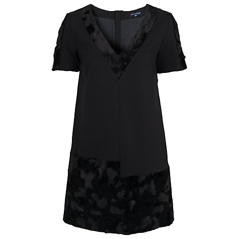 Buy French Connection Pony Patch V-Neck Dress, Black Online at johnlewis.com