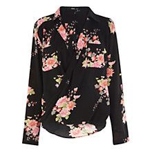 Buy Oasis Oriental Wrap Shirt, Multi Online at johnlewis.com