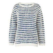 Buy Whistles Kristen Eye-Lash Jumper, Blue Online at johnlewis.com