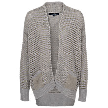 Buy French Connection Grid Lock Cardigan, Light Grey Melange Online at johnlewis.com