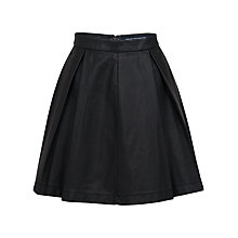 Buy French Connection Athena Faux Leather Flared Skirt, Black Online at johnlewis.com