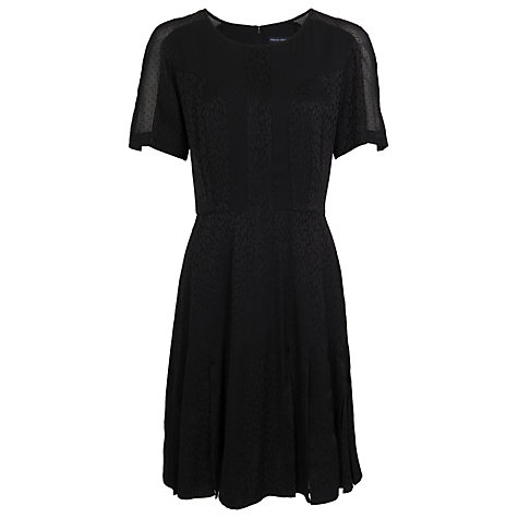 Buy French Connection Liquid Leopard Dress, Black Online at johnlewis.com