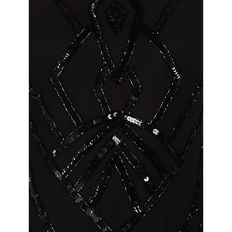 Buy Ariella Sheri Sequin Short Dress, Black Online at johnlewis.com