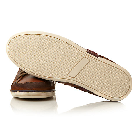 Buy Dune Tandem Stripe Leather Trainers, Tan Online at johnlewis.com