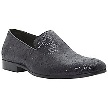 Buy Dune Aparty Glitter Loafers, Black Online at johnlewis.com
