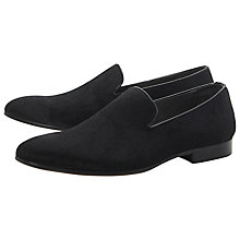 Buy Dune Apony Pony Skin Loafers, Black Online at johnlewis.com