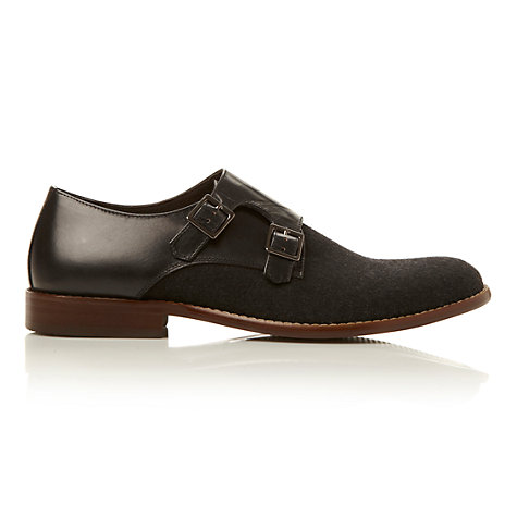 Buy Dune Blade Runner Monk Strap Shoes, Black Online at johnlewis.com