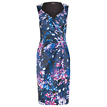 Buy Alexon Printed Cross Front Sateen Dress, Multi Online at johnlewis.com