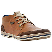 Buy Dune Submarine Leather Hi Top Trainers, Tan Online at johnlewis.com
