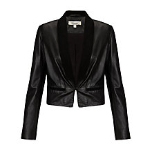 Buy Somerset by Alice Temperley Leather Jacket, Black Online at johnlewis.com