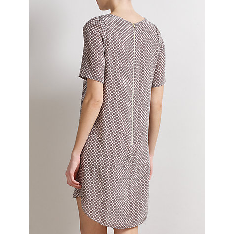 Buy Somerset by Alice Temperley Geometric Square Silk Dress, Dove/Cream Online at johnlewis.com