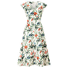 Buy John Lewis Coronation Floral Dress, White Online at johnlewis.com