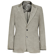 Buy Reiss Chapel Patch Pocket Cord Blazer, Light Grey Online at johnlewis.com