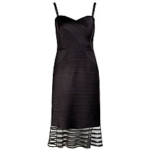 Buy Alexon Sleeveless Fishtail Tape Dress, Black Online at johnlewis.com