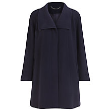 Buy Jacques Vert Funnel Neck Car Coat, Blue Online at johnlewis.com