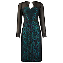 Buy Alexon Chiffon Bonded Lace Dress, Black Online at johnlewis.com