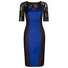 Buy Alexon Lace and Pleat Illusion Dress, Blue Online at johnlewis.com