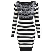 Buy Miss Selfridge Knitted Bodycon Dress, Multi Online at johnlewis.com