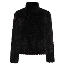 Buy Oasis Faux Fur Jacket, Black Online at johnlewis.com