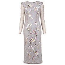 Buy Miss Selfridge Beaded Lace Pencil Dress, Purple Online at johnlewis.com