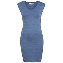 Buy Miss Selfridge Shoulder Pad Dress, Blue Online at johnlewis.com