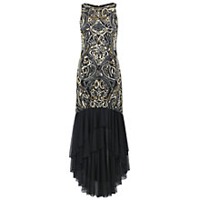 Buy Miss Selfridge Beaded Fishtail Maxi Dress, Black Online at johnlewis.com