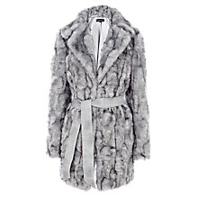 Buy Warehouse Faux Fur Coat, Dark Grey Online at johnlewis.com