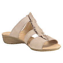 Buy Gabor Absolute Nubuck Fringed Sandals, Beige Online at johnlewis.com