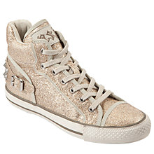 Buy Ash Vertigo High-Top Glitter Trainers, Gold Online at johnlewis.com
