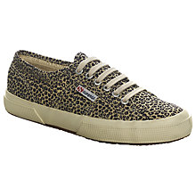 Buy Superga Women's 2750 Cotu Classic Trainer Plimsolls, Leopard Online at johnlewis.com